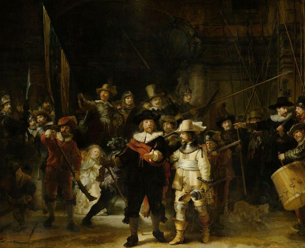 De Nachtwacht van Rembrandt is te zien in het Rijksmuseum Amsterdam
