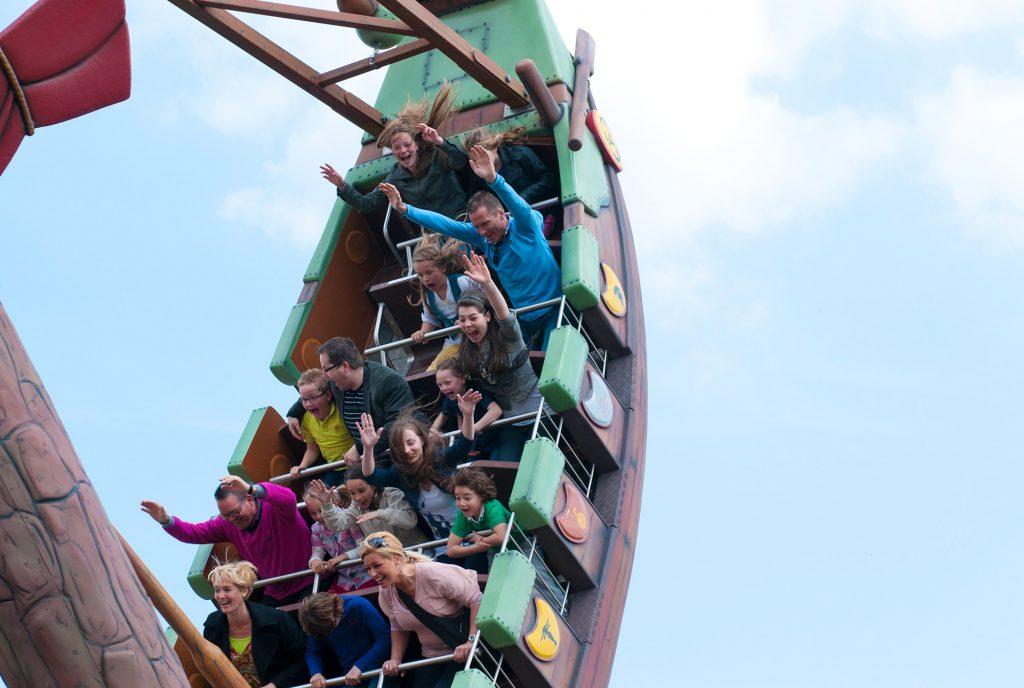Spannende rides in Attractiepark Toverland.