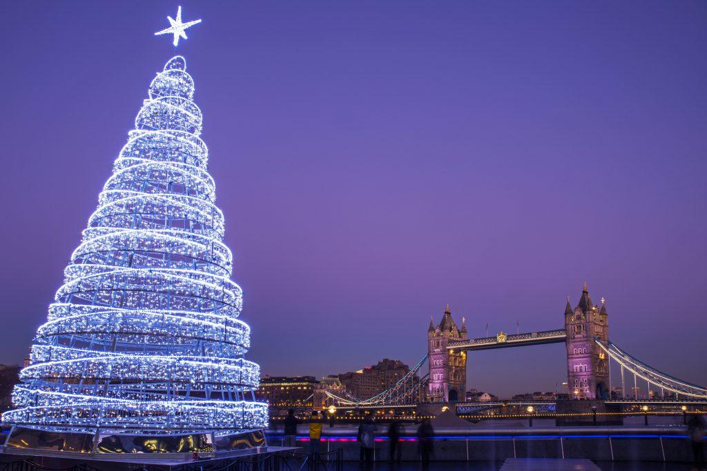 Kerstdecor in Londen.