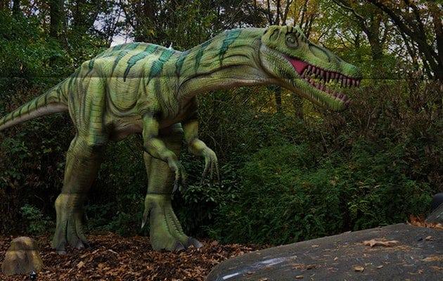 Imposant en prachtig om te zien in het Dinopark