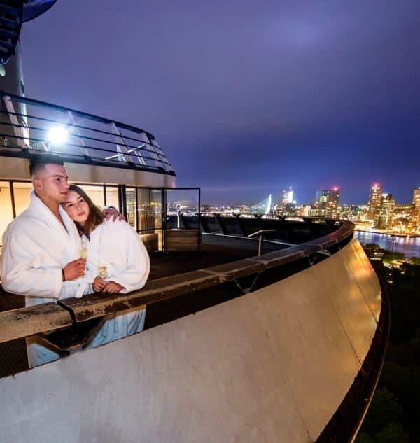 360º panoramisch uitzicht vanaf de Euromast op Rotterdam
