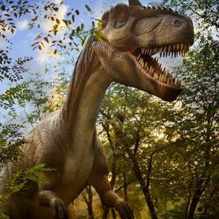Levensgrote Dinosaurus in Dinopark Landgoed Tenaxx