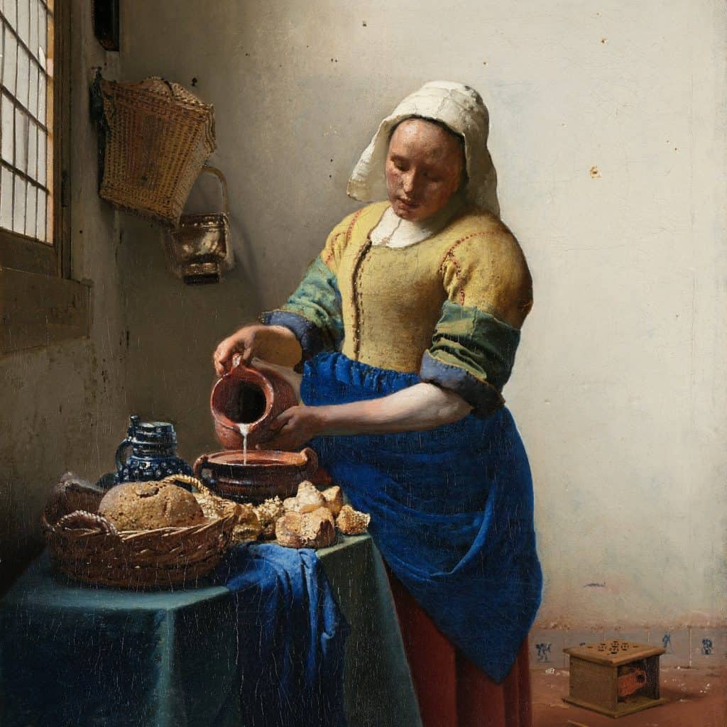 Het Melkmeisje in het Rijksmuseum Amsterdam