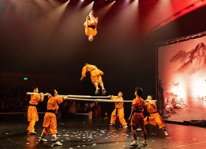 Acrobatiek ten top tijdens het Groot Kerstcircus Den Haag