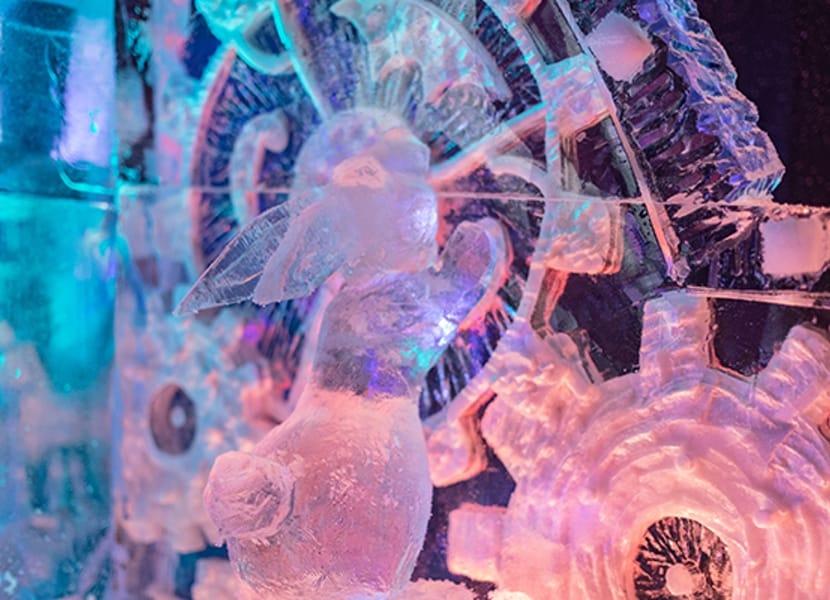 Verfijnde creaties tijdens het ijssculpturen festival van Cool Event