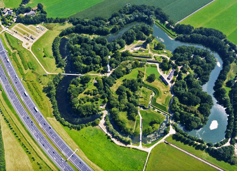 geschiedenis van de romeinen tot de Tweede wereldoorlog in het Waterlinie Museum