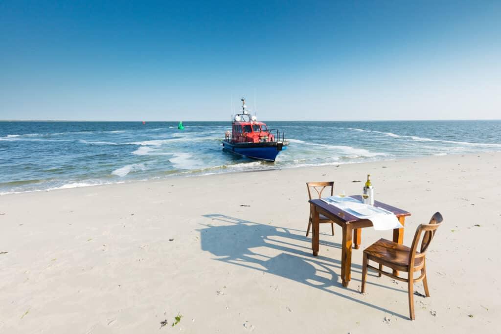 Zandplaat diner in het Nationaal Park Lauwersmeer
