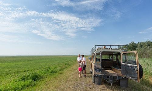 Landrover Safari in het Nationaal Park Lauwersmeer