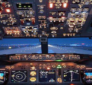 vliegen in een Boeing